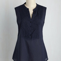 On Your Roam Time Tunic in Navy