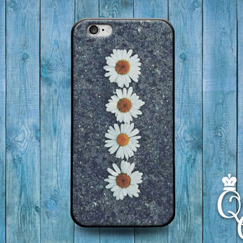 iPhone 4 4s 5 5s 5c 6 6s plus + iPod Touch 5th Generation Beautiful Daisy Asphault Custom Flower Cover Cool Cute Phone Case Girly Girl Fun