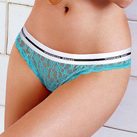 Thong Panty - Allover Lace from Cotton Lingerie - Victoria's Secret