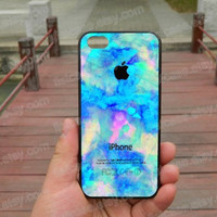 Watercolor Blue watercolor case colorful   iphone 5s case iphone 4/4s/5/5c case Samsung galaxy s5 case galaxy s3/s4 case covers skin 111