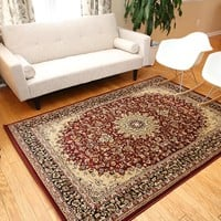 2118 Red Isfahan Oriental Area Rugs