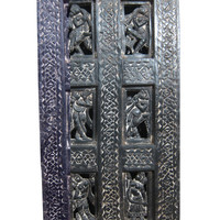 Antique Doors Dancing Lady Hand Carved Wall Panel Indian Furniture