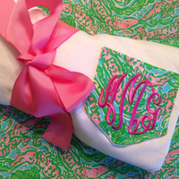 Lilly Pullitzer Fabric Monogrammed Pocket Tee