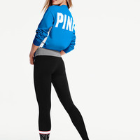 Cotton Lace-Up Ankle Legging - PINK - Victoria's Secret