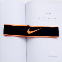 Nike Sports and leisure letters simple hair band Orange hook