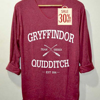 Gryffindor Shirt Quidditch Harry Potter Shirts Red Long Sleeve Unisex Adults Size S M L
