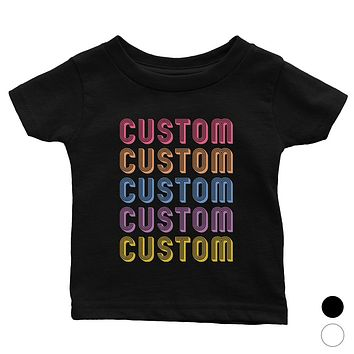 Colorful Multiline Text Bright Cute Baby Personalized T-Shirt Gift