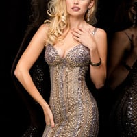 Scala 48360 - Lead Sweetheart Sequin Short Homecoming Dresses Online