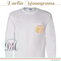 Lilly Pulitzer Monogram Long-Sleeve Pocket Tee