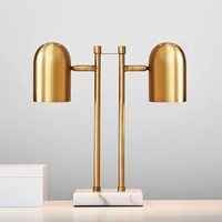 Gold Double-Dome Table Lamp