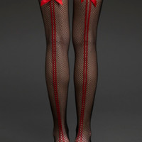 Fishnet Double Backseam Thigh Highs