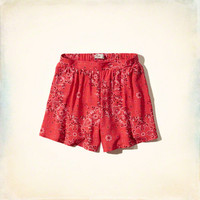 Patterned Drapey Shorts
