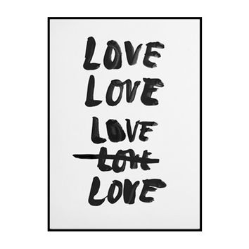 loves me / edition print
