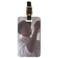 Musical Notes Instrument Luggage ID Tag