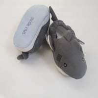 Stride Rite Shark Slippers Size 7/8 Toddlers Grey