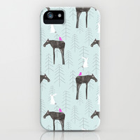 Once I met a moose iPhone & iPod Case by Cecilia Andersson