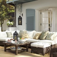 Torrey All-Weather Wicker Sectional Set   Pottery Barn