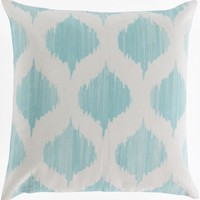Ogee Throw Pillow Blue, Neutral