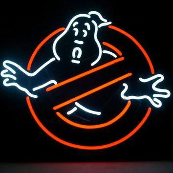 """New Ghostbusters """" No """" Ghosts Pub Home Bar Neon Sign Wall Decor Art 24""""x20"""""""