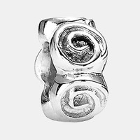 Women's PANDORA Roses Spacer Charm - Sterling Silver