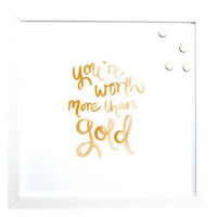 Magnetic Board - Watercolor ~ Gold