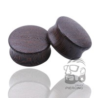 Black Wood Ear Plugs Organic Saddle Gauges Body Piercing Jewelry Ear Gauges Sold in Pairs