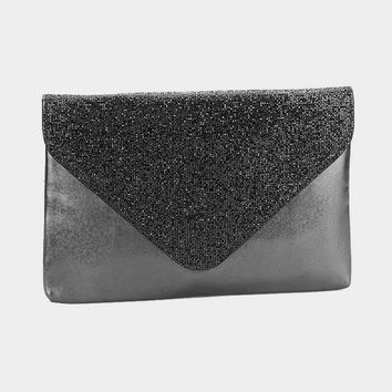 Rectangle Shimmery Envelope Crossbody Clutch Bag (Click For More Colors)