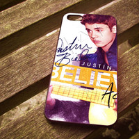 Justin Acoustic Belive Case For iPhone 4/4S iPhone 5/5S/5C and Samsung Galaxy S3/S4 ellocase