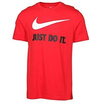 Nike Men's Just Do It Swoosh Graphic Tee (X-Large, University Red)
