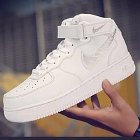 Nike Air Force 1 AF1 graffiti hook men and women casual sneakers shoes