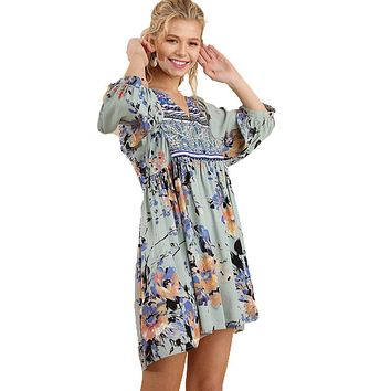Sage Boho Tunic Dress by Umgee