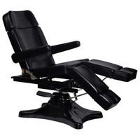 FULL MOTION HYDRAULIC TATTOO BED TABLE BLACK BODY PIERCING CHAIR