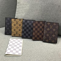 Louis Vuitton classic printed card bag passport bag certificate bag