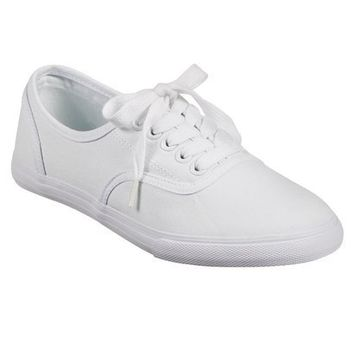 Womens Mossimo Supply Co. Olga Canvas Flat Sneakers - White