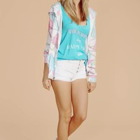 80's Beach Party Zip Up Sweatshirt