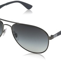 Ray-Ban Men's Metal Man Aviator Sunglasses, Matte Gunmetal, 61 mm