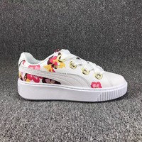 Puma Clyde x Atmos Women Flowers Old Skool Shoes