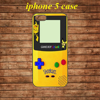 iphone 5 case,iphone 5 hard case,iphone 5 cover,iphone 5 hard cover---Pokemon GameBoy Color Yellow,in plastic