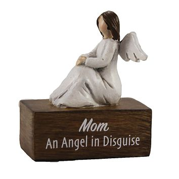 Figurines Angel Message On Blocks Message Mothers Day Heavenly - 9741161 DISGUISE