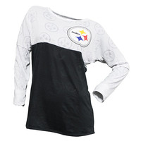 Pittsburgh Steelers Cameo Burnout Long Sleeve