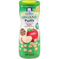 Gerber Organic Puffs Apple Puffed Grain Snack, 1.48 oz - Walmart.com