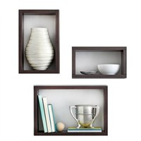 Real Simple® 3-Piece Decorative Rectangles Wall Cube Set in Espresso
