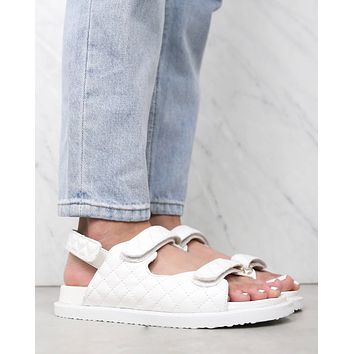 BiLLiNi - Rory Quilted Sportive Sandals in White