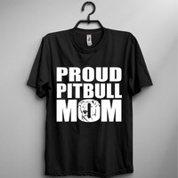 Proud Pitbull Mom Crew T-Shirt