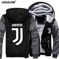 XXXXL Hoodie 2017 Fashion Anime Juventus Cosplay Jacket Men New Winter Warm Fleece Hooded Sweatshirts Man Thicken Hoody Pullover