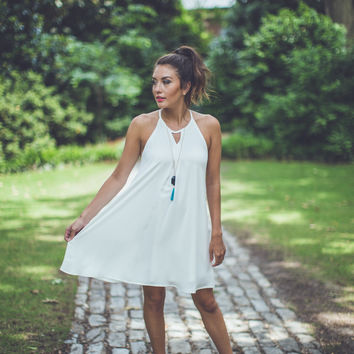 Simply Irresistible Shift Dress in White