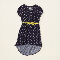 girl - hi-low hem belted kitty dress | Children's Clothing | Kids Clothes | The Children's Place