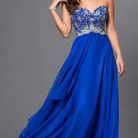 Strapless Temptation Dress with Bead Embellished Bodice