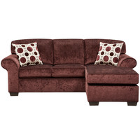 Exceptional Designs Prism Elderberry Microfiber Sofa Chaise