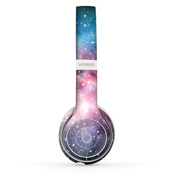 The Colorful Neon Space Nebula Skin Set for the Beats by Dre Solo 2 Wireless Headphones